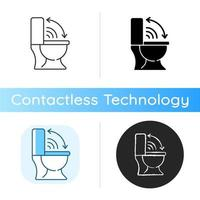 Touchless toilet seat icon vector