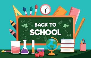 Back to School Flat Design Background vector