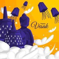 Happy Vesak Design Concept vector
