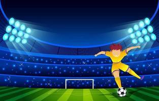 fondo de la liga de futbol vector
