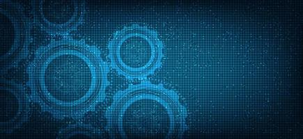 fondo de tecnología digital de engranajes de seguridad vector