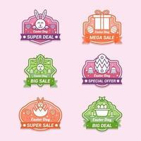 Easter Day Marketing Promotion Cute Label Design Set vector