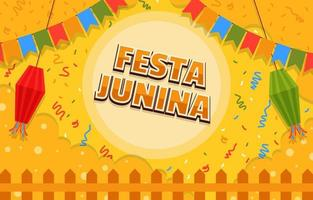 Festa Junina Festival Attractive Background vector