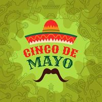 Cinco De Mayo Decorative Background Design vector