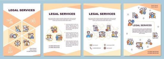 Legal services brochure template vector