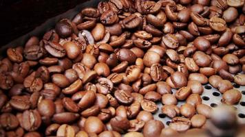 Coffee Beans in a Roasting Machine