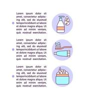Contamination from cosmetics concept line icons with text vector