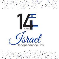 Israel independence day in 14 april wallpaper vector