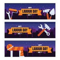 pancarta del día del trabajo vector