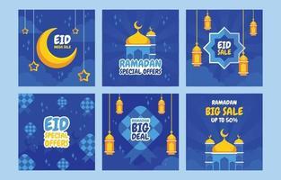 Eid Marketing Tools Social Media Post vector
