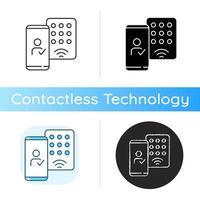 icono de detección de credenciales móviles vector