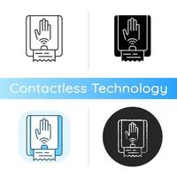Touchless towel dispenser icon vector