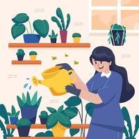 Gardening at Home Design vector