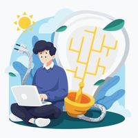 Eco Green Technology Concept