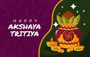 Prosperity and Goodness on Akshaya Tritiya Day vector