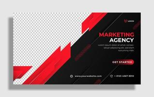 flyer or social media template themed business vector