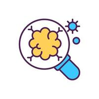 Microbiology research RGB color icon vector