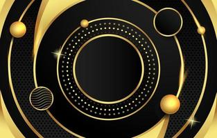 Black and Gold Circle Background vector