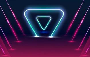 Neon Light Triangle Background vector