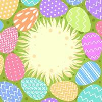 diseño de fondo de huevos de pascua coloridos planos vector