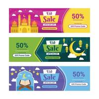 Set of Eid Sale Marketing Voucher vector