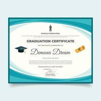 Template of Graduation Certificate vector