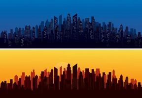 modern city skyline landscape backgrounds vector