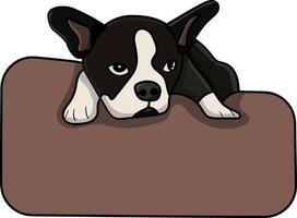 dog laying on a pillow perfect for design project vector