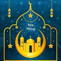 Elegant Blue Gold Isra Miraj Festivity Concept