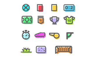 football icon set vector illustration design