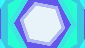 fundo rotativo do túnel hexagonal pastel video