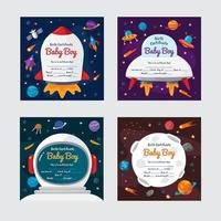 Baby Born Certificate Collection vector