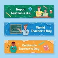Teachers Day Banner Concept vector