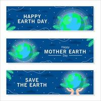 Earth Day Celebration Template Banner Set vector