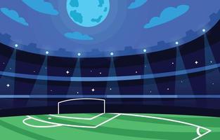 diseño de concepto de estadio de la liga de campeones vector