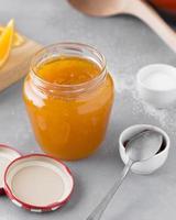 High angle orange jam photo
