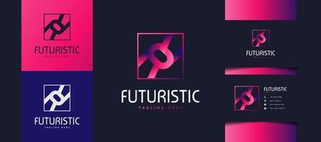 Logotipo de la letra inicial rr en degradado de colores. utilizable para logotipos comerciales y tecnológicos. Logotipo de rr para empresas, aplicaciones, startups y marcas. vector