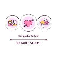 Compatible partner concept icon vector