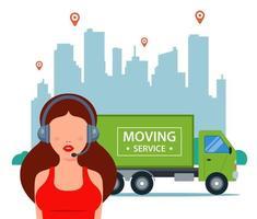 servicio al cliente para empresa de servicios de mudanzas vector