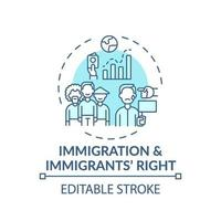 Immigration and immigrants right concept icon vector
