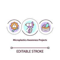 Microplastics awereness project concept icon vector
