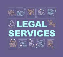 Legal services word concepts banner vector