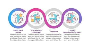 Top environmental challenges vector infographic template