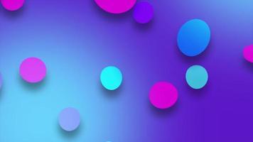 fundo moderno com círculos coloridos em movimento video