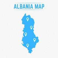 Albania Simple Map With Map Icons vector
