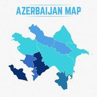 Azerbaijan Detailed Map With States vector