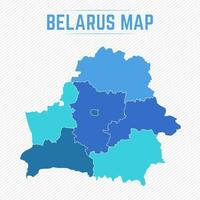 Belarus Detailed Map With States vector