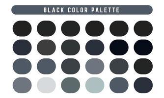 Black Vector Color Palette