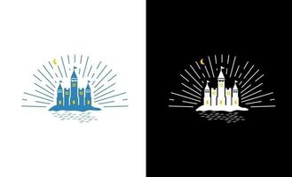 castle light up logo template vector download