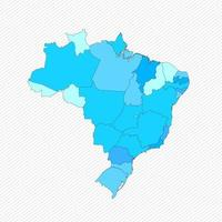 Brazil Detailed Map With States vector